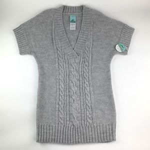 New Anthropologie Aphorism Tunic Sweater L Gray